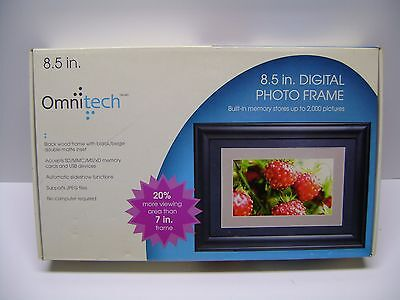"Omnitech 8.5"" Digital Picture Frame New In box. Built-in Memory Stores 2000 Pics"