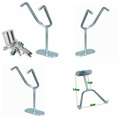 HVLP Wall Bench Mount Hook Booth Cup Gravity Feed Paint Spray Gun Holder Stand