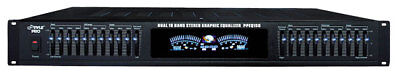"Pyle-Pro PPEQ150 19"" Rack Mount Dual 10 Band Stereo Graphic Equalizer Hi-Fi PA"