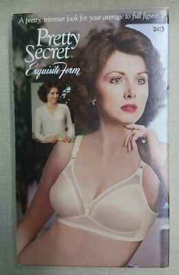 Vintage Exquisite Form Pretty Secret Seamless Bra #p580 Beige Size 34D & 46D New