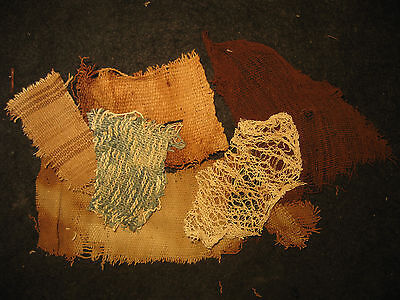 Authentic Pre Columbian Inca Chancay Fabric Textiles, 500 Year Old Cloth