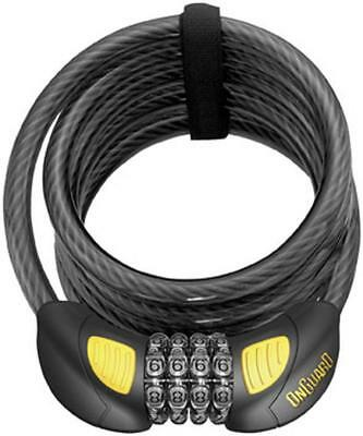 On Guard Locks Doberman 12MM 6' Coil Cable With Combo Glo Motorcycle Security
