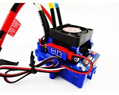 High Velocity Cooling Fan w/Blue Alloy Heat Sink for Traxxas Velineon VXL-3S ESC