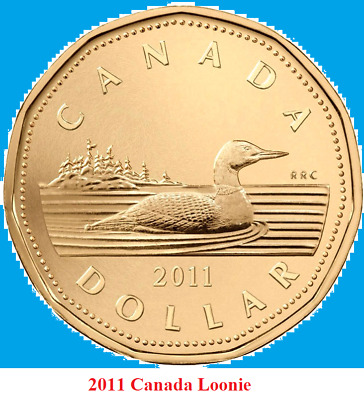 2011 Canada Loonie One Dollar Coin. (UNC.)