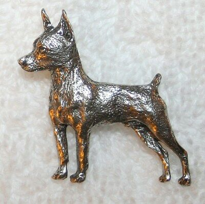 Miniature Pinscher Min Pin Dog Fine PEWTER PIN Jewelry Art USA Made