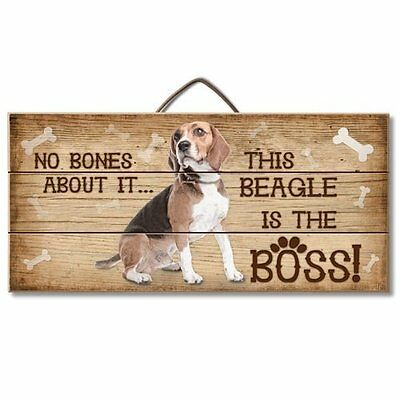 Beagle Is The Boss Reclaimed Pallet Wood Sign USA Made