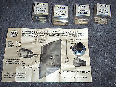 ( 5 ) Amphenol Spectrol Microdial Dial Model Number D221 - New