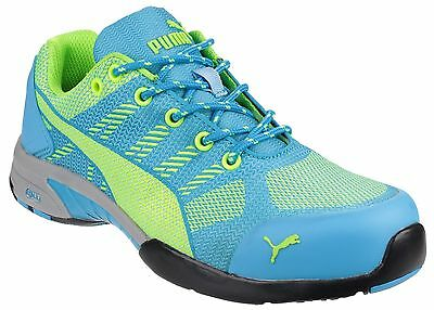 Puma Celerity Knit Blue Low Safety Womens Industrial Work Trainers Shoes UK2-8