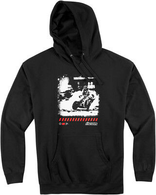 Icon Racing Clash Black 100% Cotton Pullover Hoody Adult S-3XL