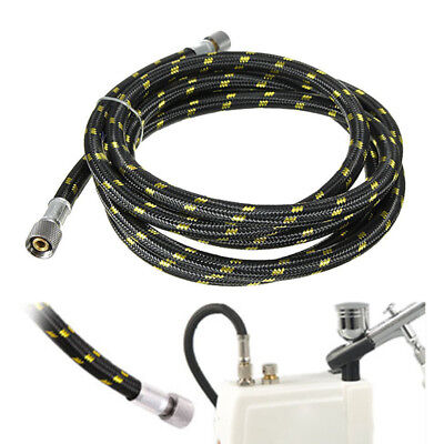 "1.8m Braided Airbrush Compressor Air Hose 1/8""-1/4"" Spray Pen Adaptor Fittings"