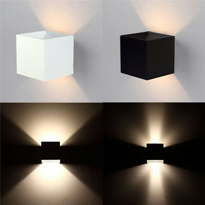 6W Up And Down Wall Sconce Lamp Light Led Aluminum Outdoor Indoor Bathroom New