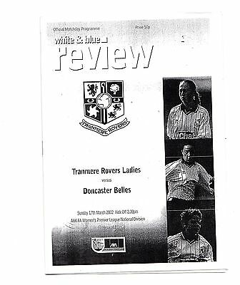 2001-2002 Tranmere Rovers Ladies v Doncaster Belles POST FREE