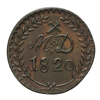 French 30 Sous Mining Token 1820  M D
