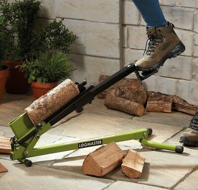 Foot Operated Log Splitter Portable Manual 1.2 Tonne Wood Cutter Chop Logmaster