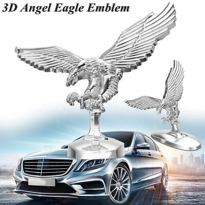 Metal 3D Emblem Angle Eagle Car Front Cover Chrome Hood Ornament Bonnet Metal