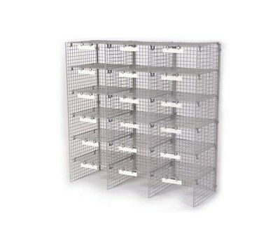 3 Column 18-Compartment Pidgeon Hole Letter Sorting Unit A1DC#