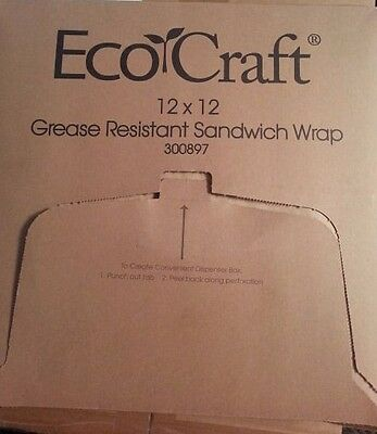 Eco Craft Grease Resistant Sandwich Wrap