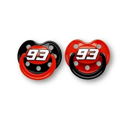 Marc Marquez 93 Baby Pacifier Set One Size Black   Red