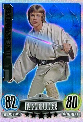 Force Attax Film Card - edizione limitata Skywalker Luke LE3