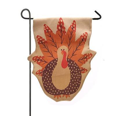 Garden Flag Indoor Outdoor Home Decor Thanksgiving Turkey Fall Flag Free Ship