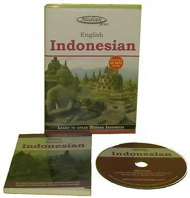 Learn Indonesian Bahasa Indonesia phrase book and 46 mp3 on CD +bonus ebook disc
