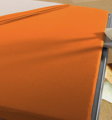 Baby Spann Betttuch 70x140 cm Jersey Baumwolle orange