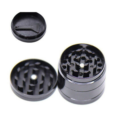 1Pc Black 4 Layers Metal Tobacco Crusher Hand Smoke Herbal Herb Grinder Portable