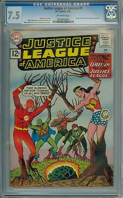 Justice League Of America #9 - CGC Graded 7.5 - 1st Full Origin Of The J.L.A.