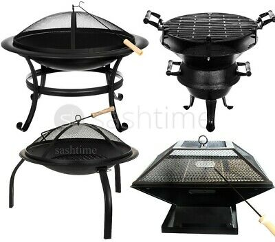 Livivo Outdoor Garden Fire Pit Firepit Brazier Stove Patio Heater Round/curved