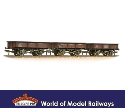 Bachmann 37-365 Set of 13T Steel Tippler Wagons Taunton Concrete OO Gauge