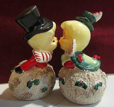Vintage Christmas  Kissing angel Bells by Geo. Z. Lefton