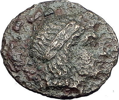 Kolophon Colophon IONIA 360BC Authentic Ancient Greek Coin APOLLO & HORSE i63074