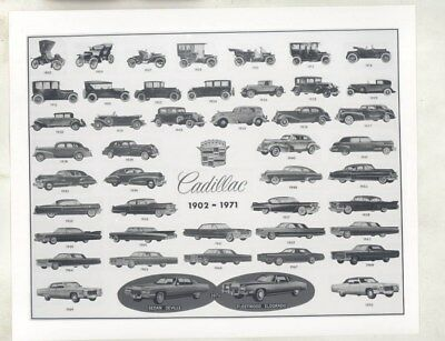1902 thru 1971 Cadillac Multi Image Views ORIGINAL Factory Photograph wy2663
