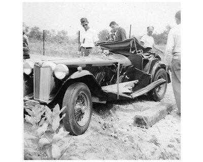 1948 ? MG TC MGTC Crash Factory Photo ca8252