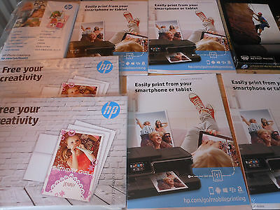hewlett packard various photo paper 8 pkts all new see pictures please