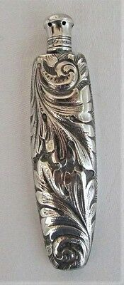 "Antq Shiebler Sterling Silver Perfume Scent Bottle Vial Flask ""scanlin"" Ex-Cond"