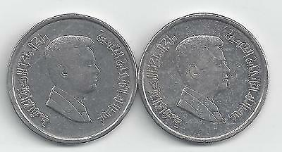 2 DIFFERENT 10 PIASTRE COINS from JORDAN DATING 2004 & 2009