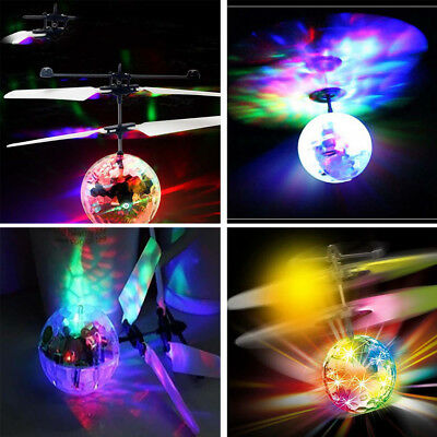 Magic RC Flying Ball Drone Led Flashing Light Krystal Aircraft Helicopter Kids