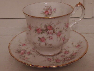 Vintage Paragon Victoriana Rose Cup & Saucer Teacup Pink Roses Fine Bone China