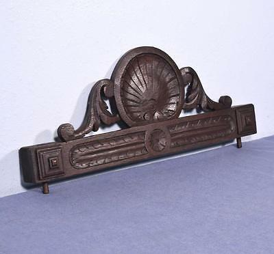 "*22"" French Antique Pediment/Crest in Oak Wood with Shell"