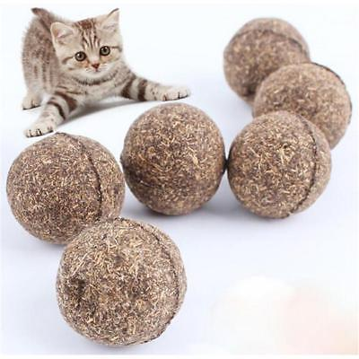 2X Nature Mint Cat Play Toys Ball Coated with Catnip Bell Toy For Pet Kitten S