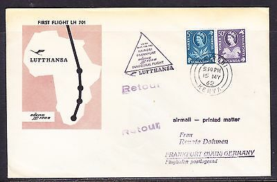 KUT 1962 Lufthansa LH701 Nairobi to Frankfurt  Flight Cover