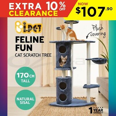 i.Pet Cat Scratching Tree Post Scratcher Pole Condo Furniture Multilevel 170cm