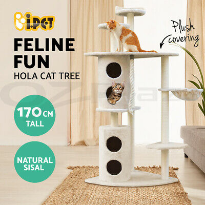 Cat Scratching Tree Post Scratcher Pole Condo Gym Toy Furniture Multilevel 170cm