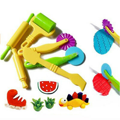 6PCS/set Polymer Clay Plasticine Playdough Mould Play Doh Tools Mold Toy