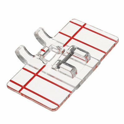 Clear Plastic Parallel Stitch Feet Foot Presser For Home Domestic Sewing Machine