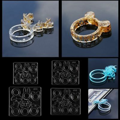 Silicone DIY Ring Mold Making Resin Casting Jewelry Rings Mould Hand Craft
