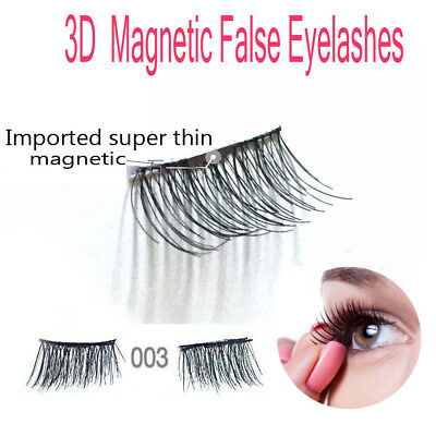 1Pair 4pcs 3D Magnetic False Eyelashes Handmade Thinner Magnet Natural Extension