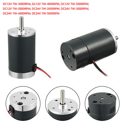 DC 12V/24V 5000RPM High Torque Electric Motor Geared Motor CCW Replacement Motor
