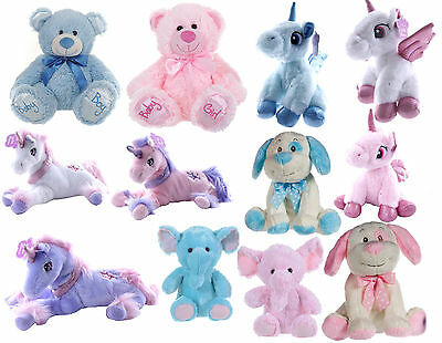 New Childrens Boys Girls Baby Bears Unicorns Elephants Plush Soft Toys